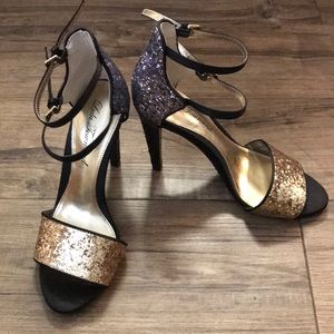 Multi glitter sandals